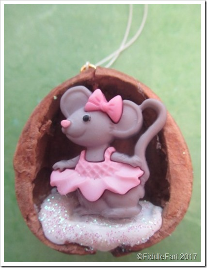Little Mouse Walnut Shell Christmas Ornament