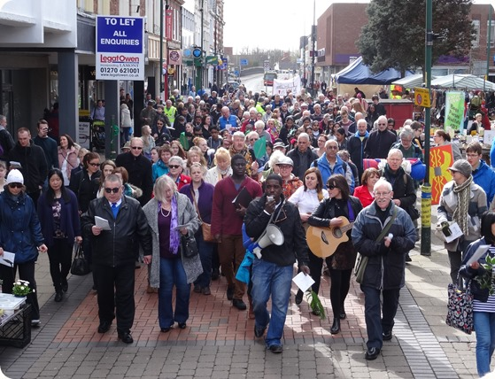Crewe Passion Play proceeds along Market Street