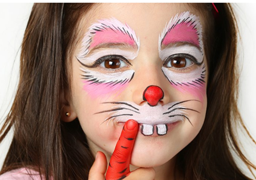 maquillaje de conejo para niña