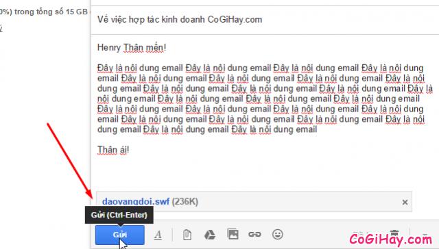 gửi gmail đi