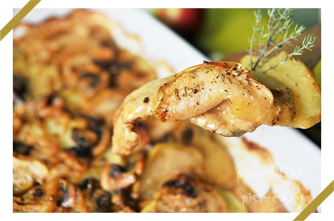 Kulinarne Inspiracje Kamis - Polędwiczki z jabłkiem w sosie szałwiowym