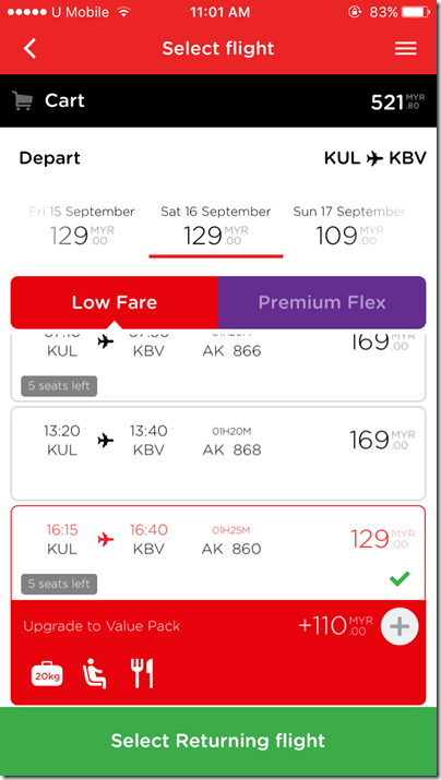 AirAsia booking