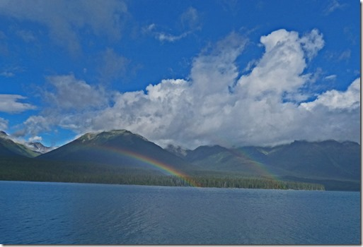 Double Rainbow on Eddontenajon lake, Cassiar Highway1c