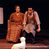 Donna Newton and Kevin Miller in LOOK HOMEWARD, ANGEL (R) - March 1994.  Property of The Schenectady Civic Players Theater Archive.