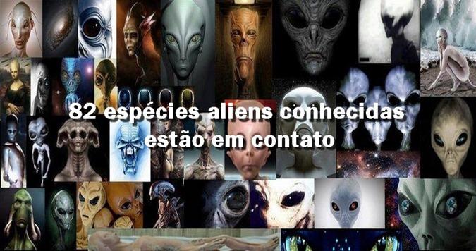 82 espécies aliens conhecidas estão em contato