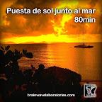 Puesta de sol junto al mar 80mim