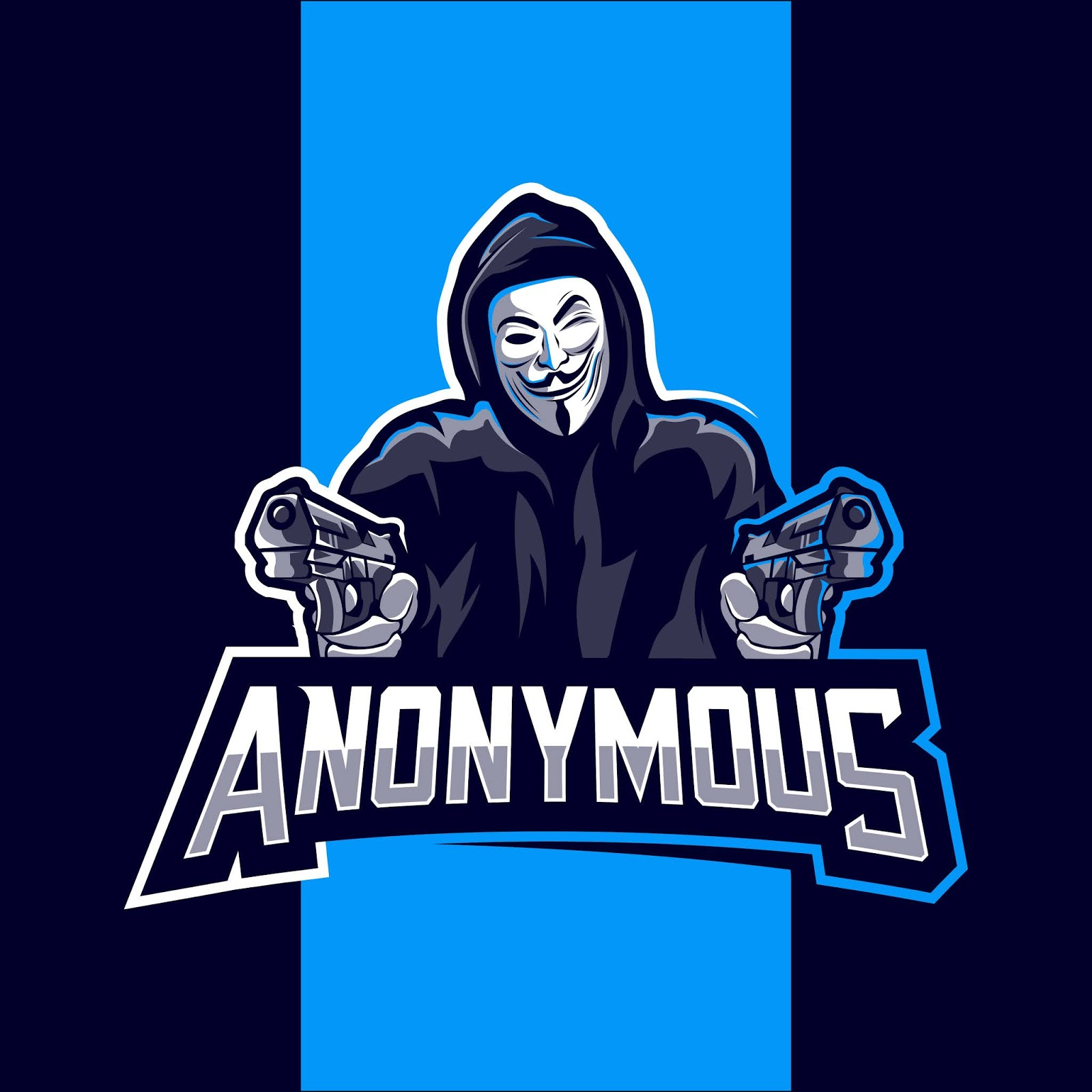 Anonymous Mascot Logo Esport Design Free Download Vector CDR, AI, EPS and PNG Formats