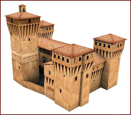 La Rocca Castle Papercraft