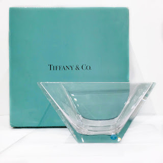 Tiffany & Co. Metropolis Square Crystal Bowl