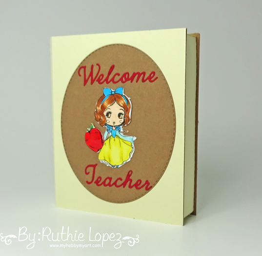3d Book Box - SnapDragon Snippets - Star Stamps - Ruthie Lopez - Back to School