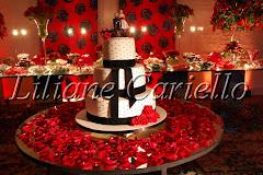 Fotos de decoração de casamento de Casamento Lucia e Ovídio no Rio Cricket da decoradora e cerimonialista de casamento Liliane Cariello que atua no Rio de Janeiro e Niterói, RJ.