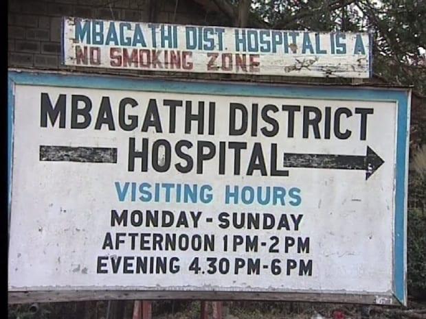 Mbagathi hospital signboard. PHOTO | BMS