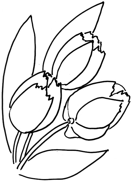 Tulip Flower Coloring Pages Tulip Flower Coloring Page