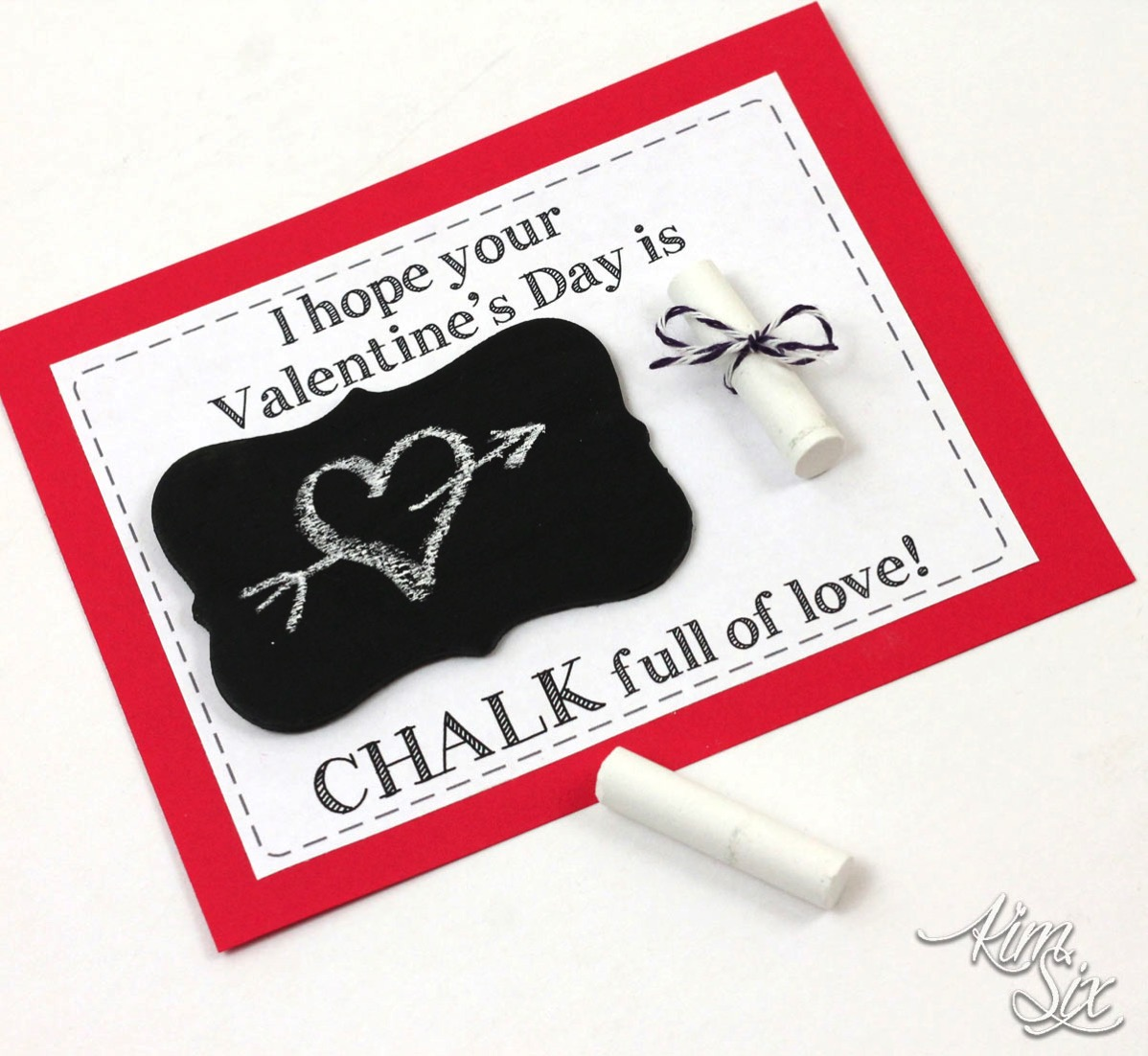 Chalk school valentine