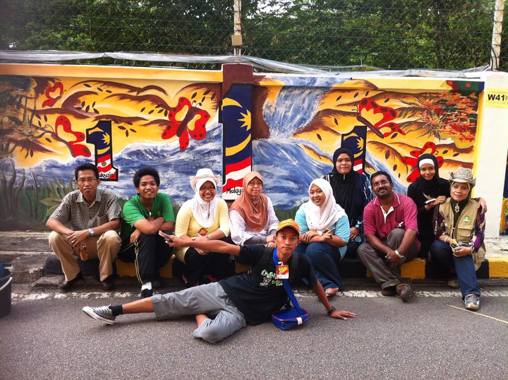 Pertandingan mural 1malaysia malaysia book of records for Mural 1 malaysia