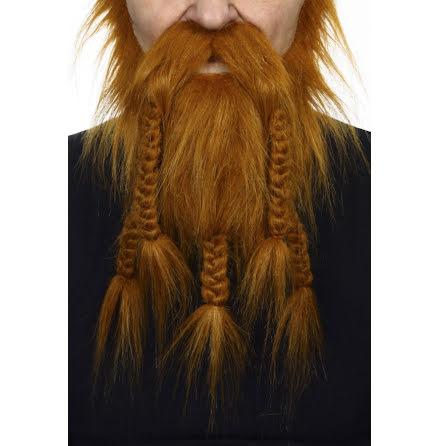 Vikingaskägg röd deluxe