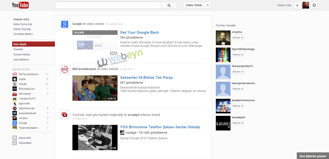 Yeni YouTube