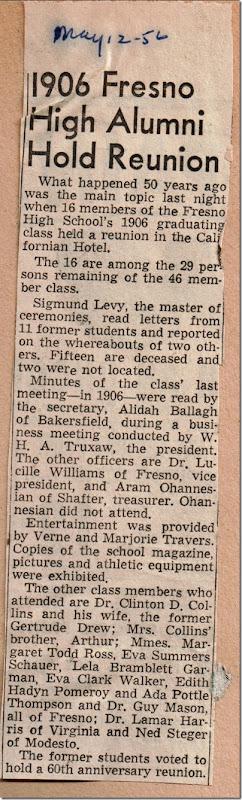 Fresno High Reunion 1956