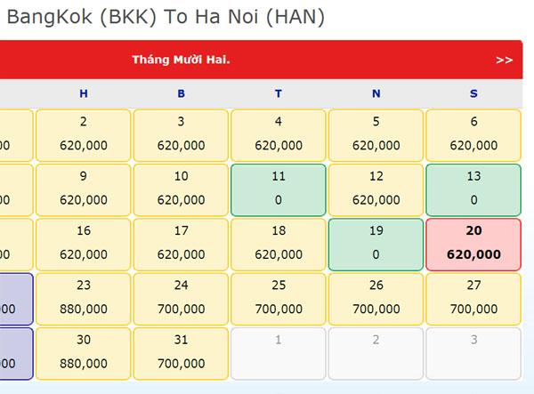 săn vé máy bay giá rẻ 0 đồng đi bangkok