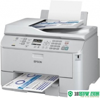 How to reset flashing lights for Epson WorkForce WP-4521 printer