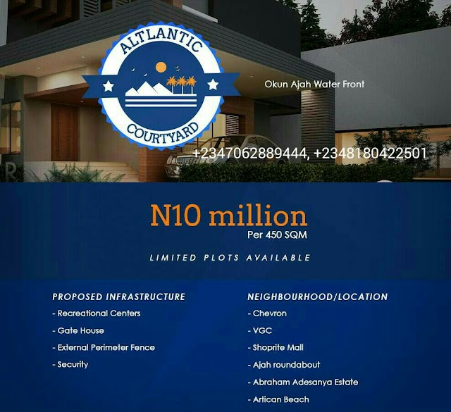 ATLANTIC COURTYARD, OKUN AJAH, LAGOS (LAND FOR SALE)