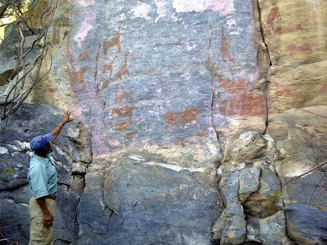 Rock paintings at Tsodilo Hills