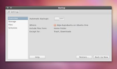 Deja Dup UbuntuOne