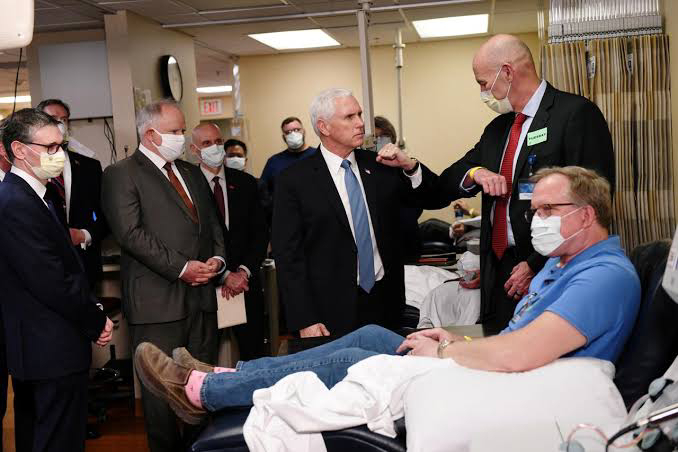 Pence says at Mayo Clinic he would have worn face mask