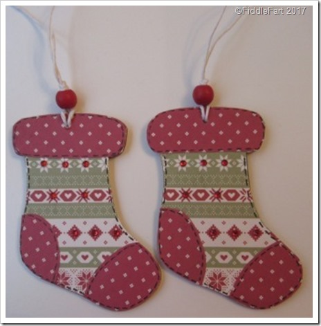 Nordic Wooden CHristmas Stocking Tag