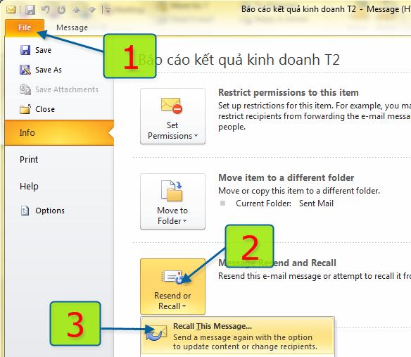Cách hủy các email đã gửi nhầm đơn giản 3