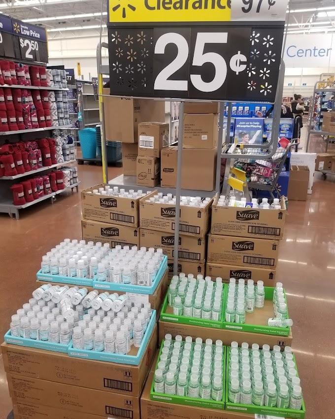 Walmart Hand Sanitizer $.25 each😍