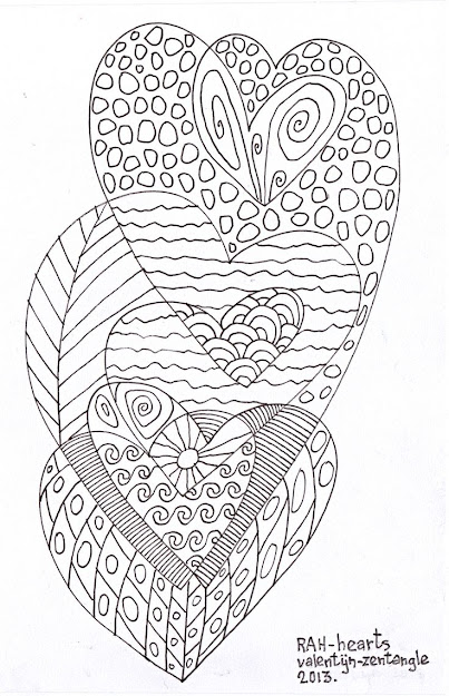 Zentangle Hearts  Mindfulness Activitiesfun Activitiescoloring Sheetsadult  Coloringcoloring Pagesanti Stresssharpiesdoodle Artzentangle