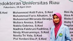 Pivi, Mahasiswi Cantik Asal Siabu, Lulus Dari Fakultas Kedokteran Universitas Riau Dengan Nilai Memuaskan