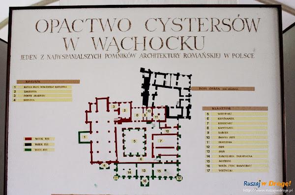 Plan Opactwa Cystersów w Wąchocku
