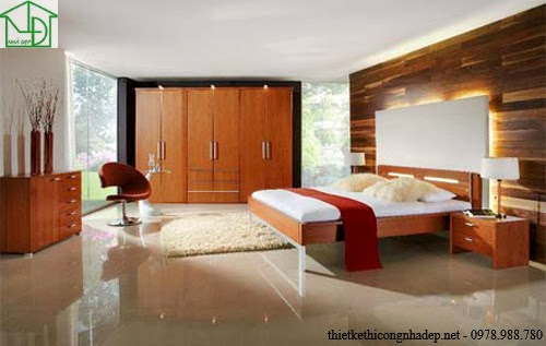 Trọn bộ nội thất phòng ngủ với gỗ tự nhiên