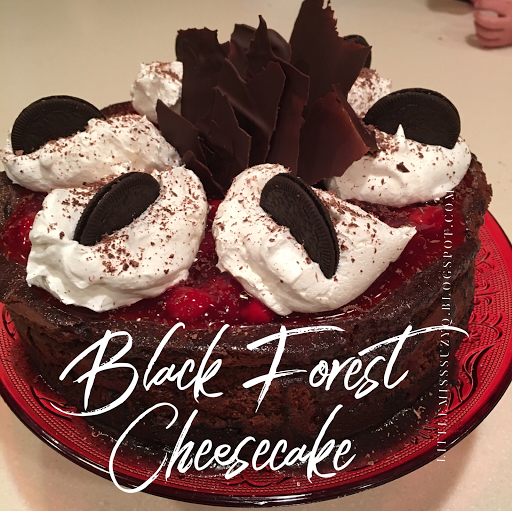 Little Miss Suzy Q Black Forest CheesecakeHappy birthday to me