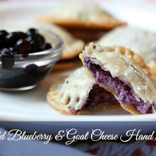 Wild Blueberry, Ginger & Goat Cheese Hand Pie.