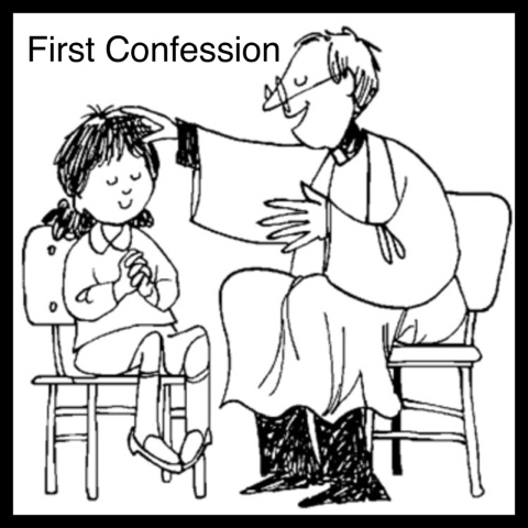 Primary art first confession for First reconciliation coloring pages