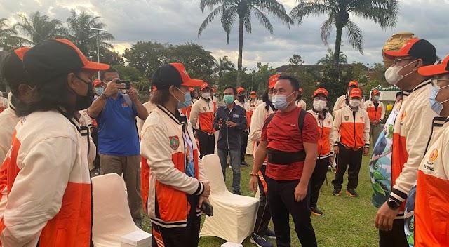 Lepas Kontingen PON Kalteng, Gubernur Sugianto Sisipkan Pesan untuk Para Atlet