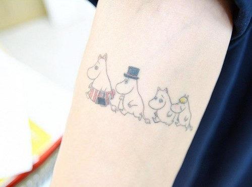 este_adorvel_famlia_de_hipoptamos_tatuagem
