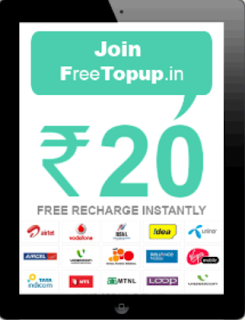 Earn Mobile Recharge Freetopup