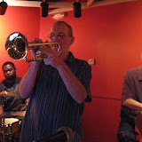 A full house of jazz musicians and listeners gathered at the Unique Cafe for the monthly Jazz Jam.