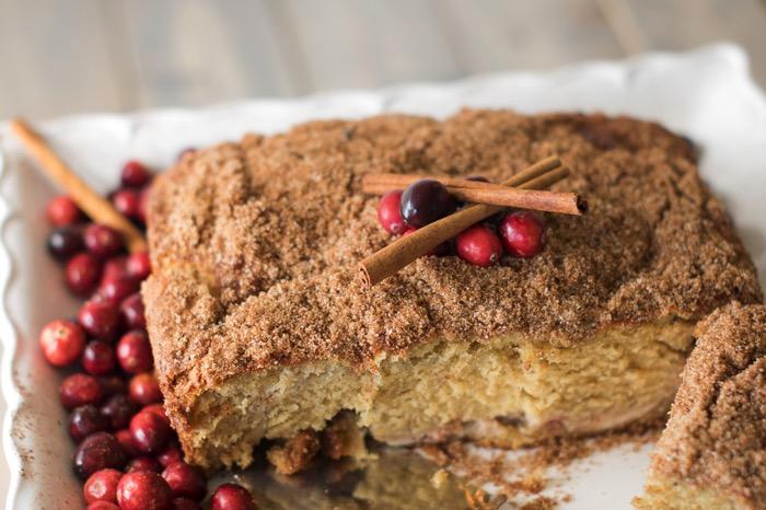 Cinnamon sugar topped coffee cake