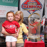 Days Inn Horsham Hosts Phillies World Series Trophy on June 20, 2009