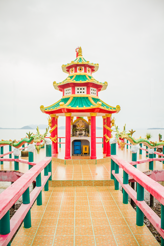 The Chinese Shrine at Royal Old Town, Koh Lanta, Thailand | Lavender & Twill