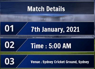 india vs australia match info