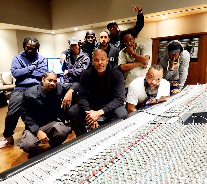 Photo: Dr. Dre Back In The Studio Days After His Release From Hospital For Brain Aneurysm