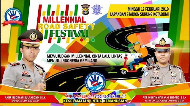 Polres Lampung Utara akan gelar Millenial Road Safety Festival