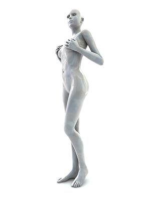 femme 3D pose artistique matiere nacre 3-05b