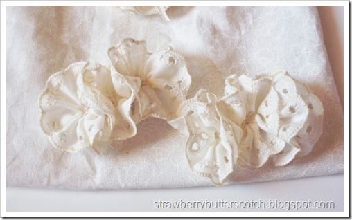 Simple Pretty Lace Rosette Hair Clips